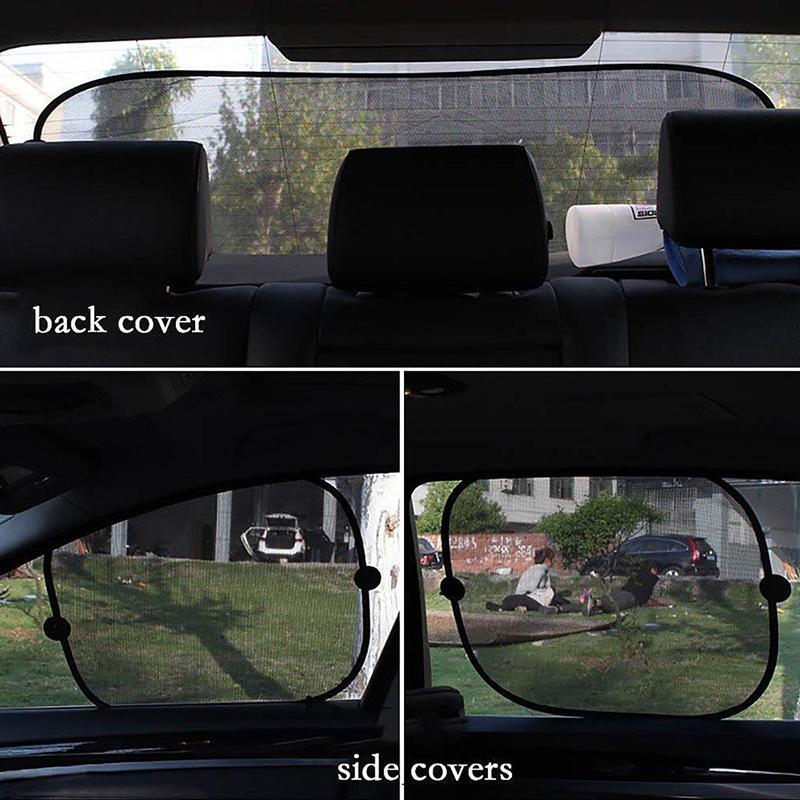 côté écran pare-soleil maille pare-soleil couverture pare-soleil pour la protection UV de voiture