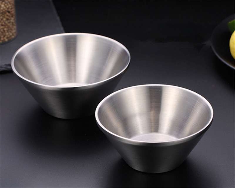 Reusable Stainless Steel Rice Bowl Salad Cereal Fruit Or Soup Bowl 10.5cm