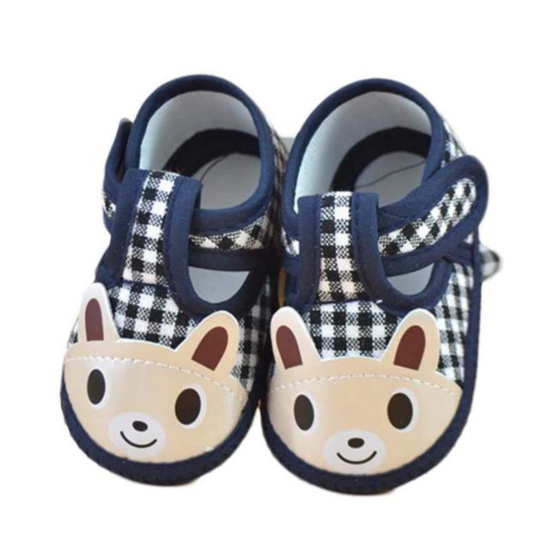 Newborn Girl Boy First Walker Soft Sole Crib Toddler Shoes Canvas Sneaker NDA84L16 (1)