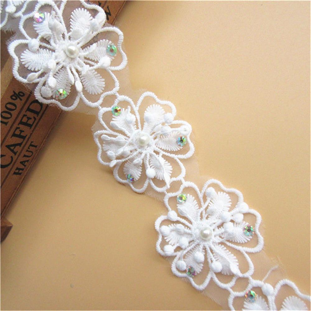 environ 1.83 m 2 Yd bordure en dentelle ruban pompons frange rideau robe décoration Edge Sewing Crafts