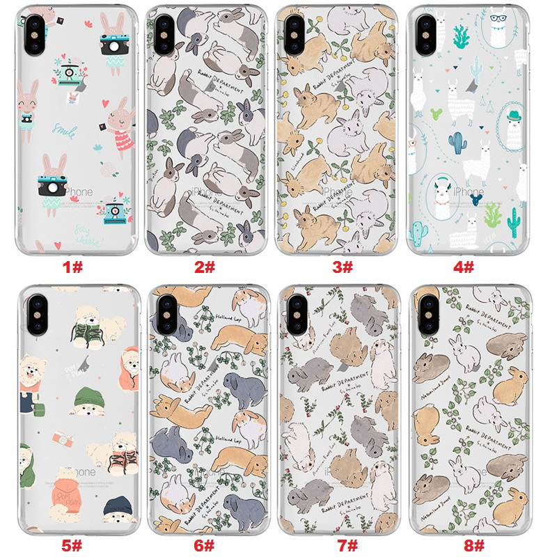 For samsung s10 iPhone xr silicone cartoon phone case housing case
