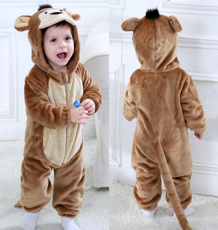 Lindo bebé de los mamelucos de las muchachas de la ropa recién nacido del bebé traje de mono mono infantil de invierno onesie pijamas ropa bebe Recem nascido LY191228
