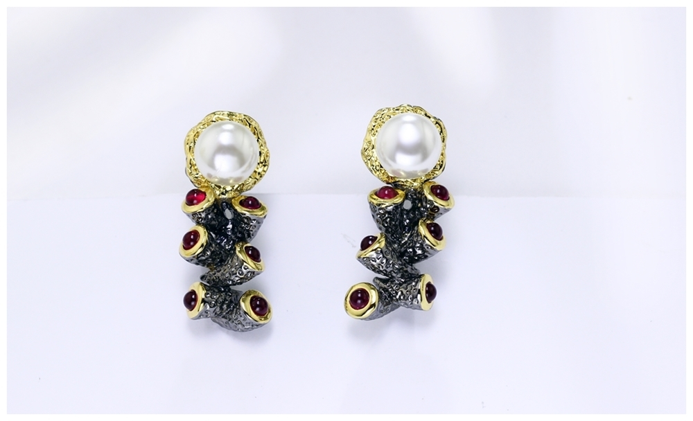 Simulated Pearl earrings WE3784 (9)