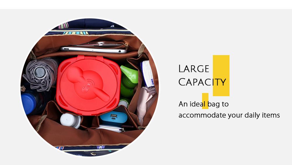 Diaper Bag Cute Pattern Waterproof Large Capacity Mother Women Backpack (6)