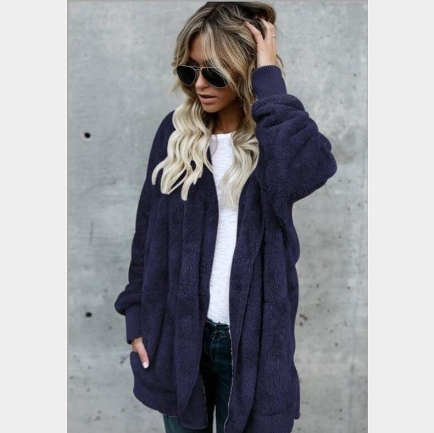 Новый дизайнер Пальто из искусственного меха. Комфортное пальто класса люкс. Двухстороннее зимнее пальто. Женское теплое и модное пальто с капюшоном размер S-3xl.