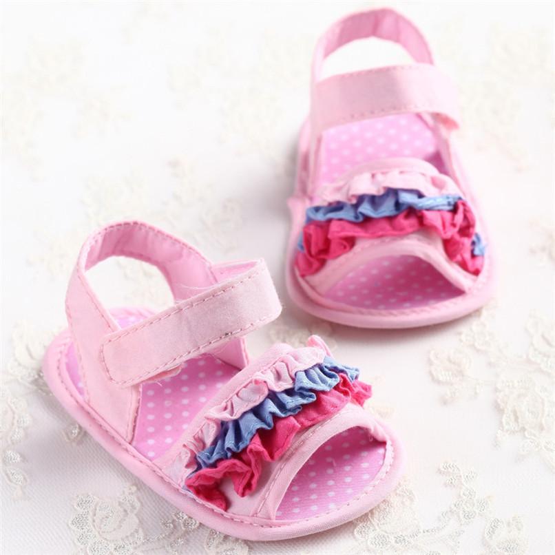 Summer Baby Girl Sandals Toddler Newborn Baby Girl Crib Flower Soft Sole Anti-slip Sneakers Canvas Sandals NDA84L25 (10)