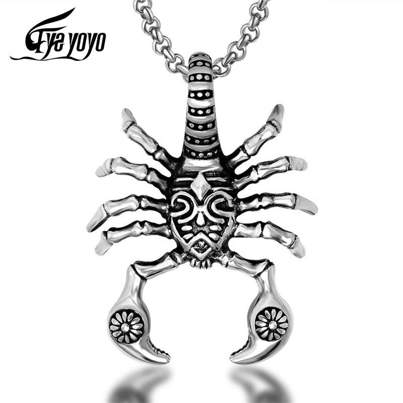 Necklaces,Jewelry,Personalized Stainless Steel Necklace Pendant Animal Fashion Titanium Steel Big Spider Domineering Trendy Male Rock Pendant Jewelry