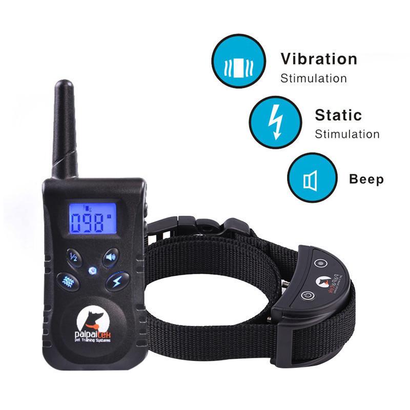 500 M Remote Control Waterproof Pet Dog Trainer Anti-bark Collar Braking Controller High Quality Pet Dog Training Collar
