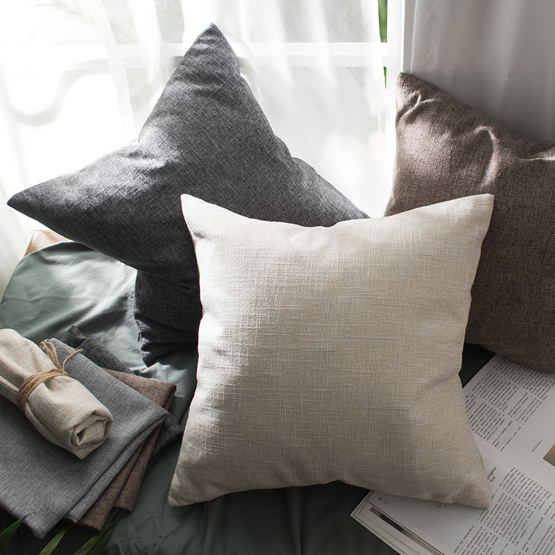decorative stools for living room.htm cotton linen pillow cover solid cushion cover for living room sofa  cotton linen pillow cover solid cushion