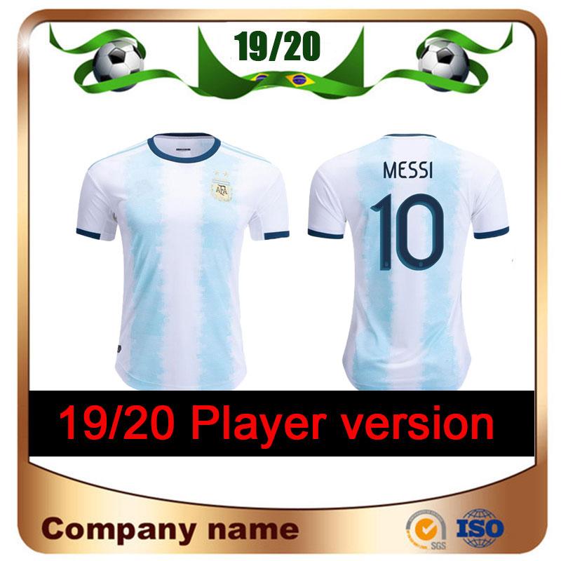 DHgate coupon: 2018 Player Version Copa America Argentin Soccer Jersey 19/20 Home Messi Soccer Shirts National Team Aguero Di Maria Dybala Football Uniform