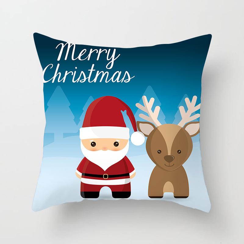 1Pcs 4545 Cm Happy New Year Christmas Decorations for Home Cartoon Santa Claus Xmas Decorative Pillows Cover adornos navidad (20)