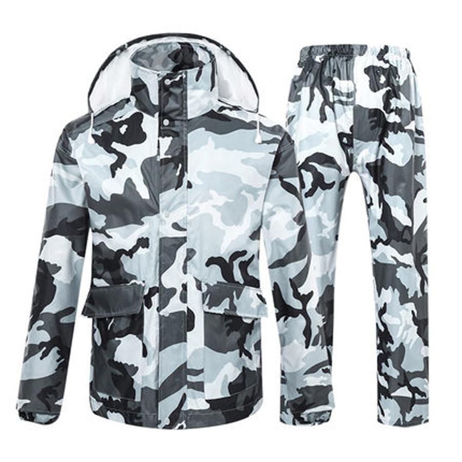 Homme Nouveau Army Camo Imperméable à Capuche Léger PVC Outdoor Veste Imperméable