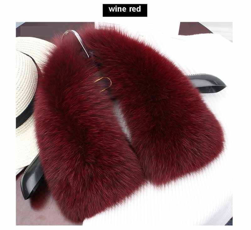 fox fur collar wine red 1