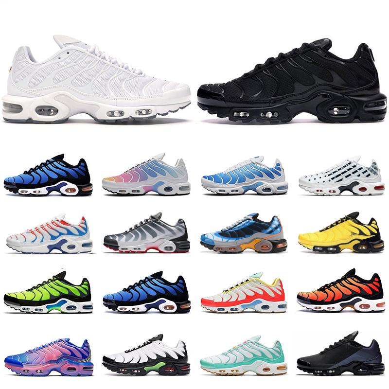 nike tn air max plus se hombres mujeres zapatos para correr ultra triple  negro blanco OG Hyper Blue Total Crimson Deluxe para hombre entrenador moda  ...
