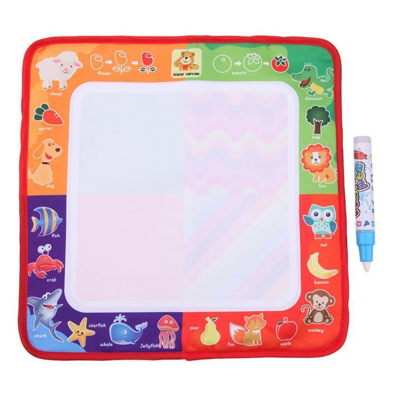 Magic Water Drawing Cloth With Doodle Painting Pen Children Early Education Toy Coloring Books 29*29cm Wholesale