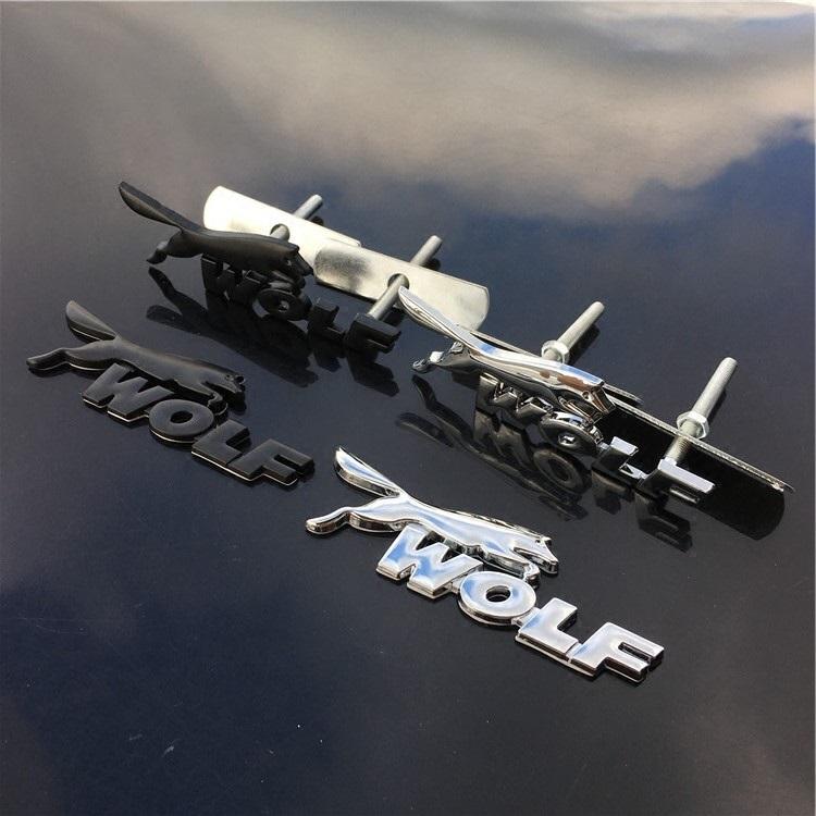 motorhauben aufkleber wolf