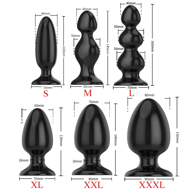 Adult Large Anal Sex Toys Huge Size Butt Plugs Prostate Massage For Men Female Anus Expansion Stimulator Big Anal Beads SH190730