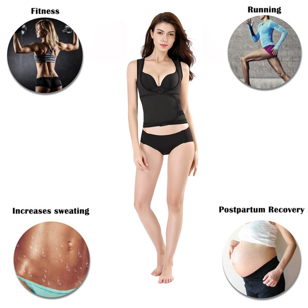 Großhandel Taille Trainer Weste Korsett für Frauen Haken Body Shaper Taille Cincher Bauchkontrolle Abnehmen Shapewear Neopren Sweat Vest