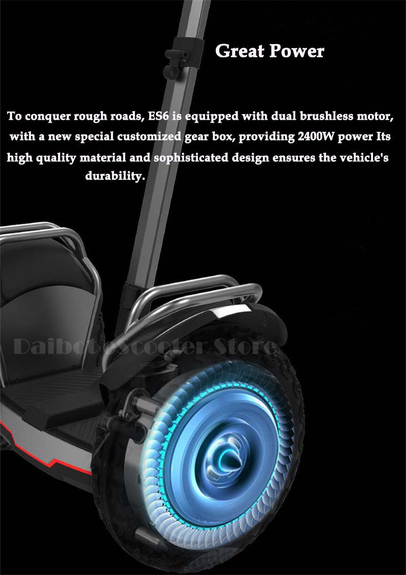 Daibot Off Road Electric Scooter Self Balancing Scooters Double System 1200W2 Adults Skateboard Hoverboard With BluetoothAPP (29)