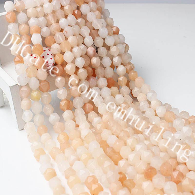 """5x10mm Natural Gota Facetado Coral Piedras Preciosas Perlas para joyería haciendo Strand 15/"""""""