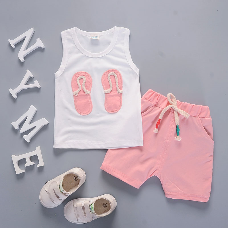 Fashion 2019 Children Boys Girls Clothing Suits Summer Baby Vest Shorts /Sets Patch Star Kids Active Toddler Tracksuits