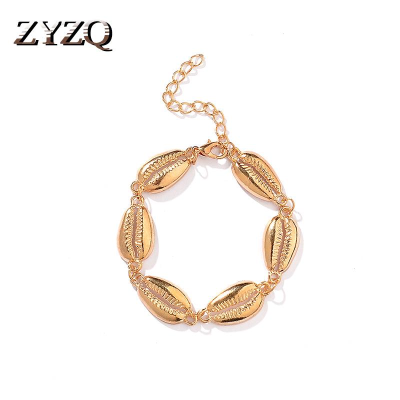 Scallop Shell Seashell Beach Rose Gold Dangle Charm for European Bead Bracelets Fashion Jewelry for Women Man