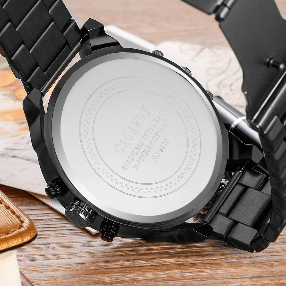 cagarny mens watches quartz watch men dual time zones big case dz military style 7331 7333 7313 7314 7311 steel band watches free shipping (33)