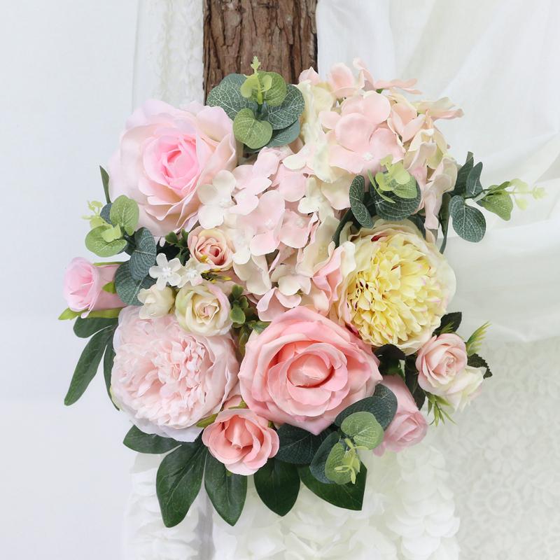 JAROWN Artificial Rose Flower Row Small Corner Flowers Simulation Silk Fake Flowers Wedding Decor Home Garland Decor Flores (4)