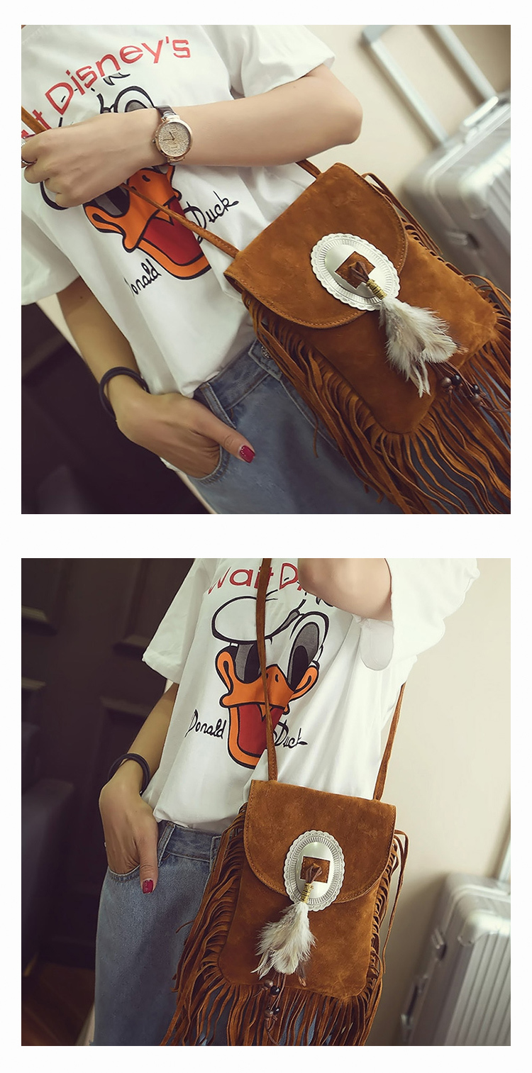 Female Small suede Bag Brown Beaded Feathers Hippie American Indian Tribal Bohemian Boho Chic Ibiza Style Pouch Bag (18)