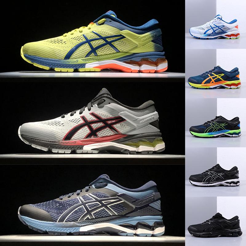 2020 With Stock X Gel Kayano 26 Running Shoes Royal Blue Oreo Triple Black Cinder Grey Mens Designer Sports Runner Sneakers Man Trainers