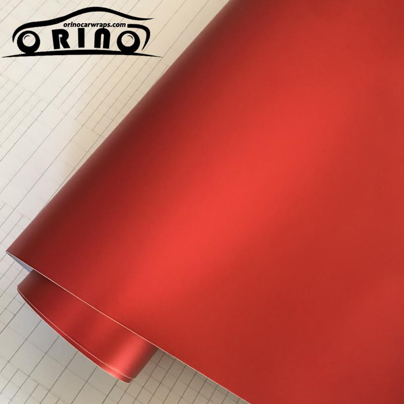 Red Metallic Chrome Vinyl Wrap Film-4