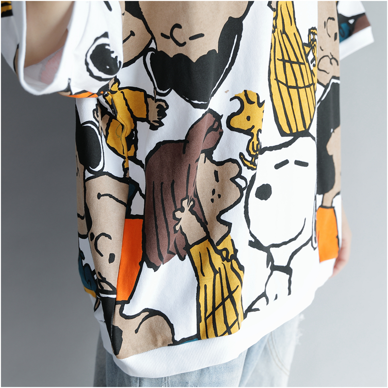 Kawaii Tshirts Cotton Women Tshirt 2019 Summer Fashion Print Plus Size Cartoon T Shirt Korean Printed Shirts Top 4xl 5xl 6xl Y19042202