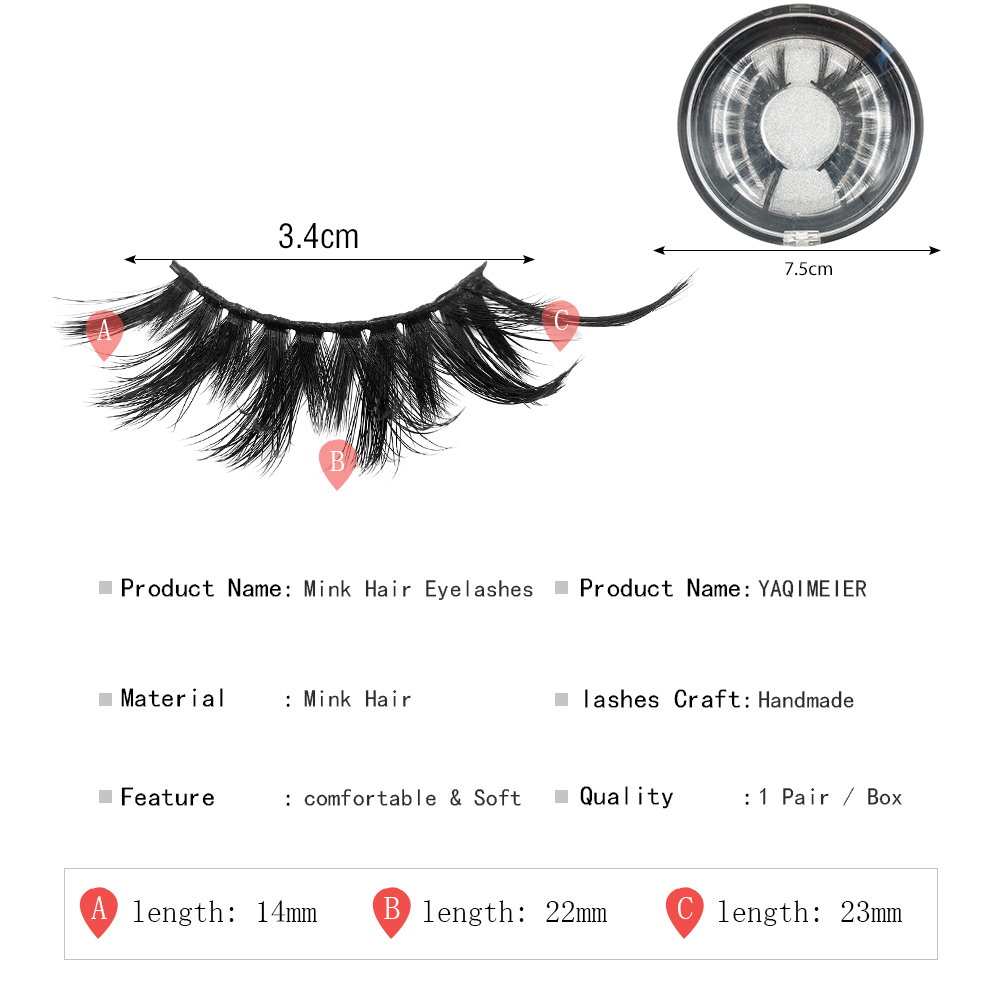 False Eyelashes 25mm Long Lashes Light Wight Soft Volume Full Eye Lashes Dramatic Fake Eyelashes Makeup Cxp003