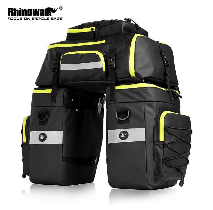 1X Cooler Bike Seat Rear Pouch Luggage Carrier Shoulder Bag Tail Saddle Bag 10L