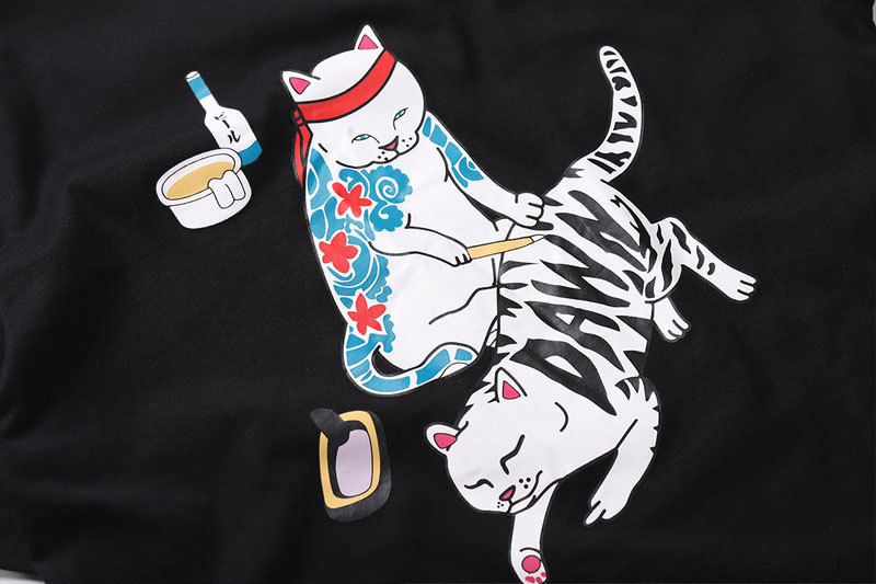 Japanese Ukiyo-E Tattoo Cat tshirts 4