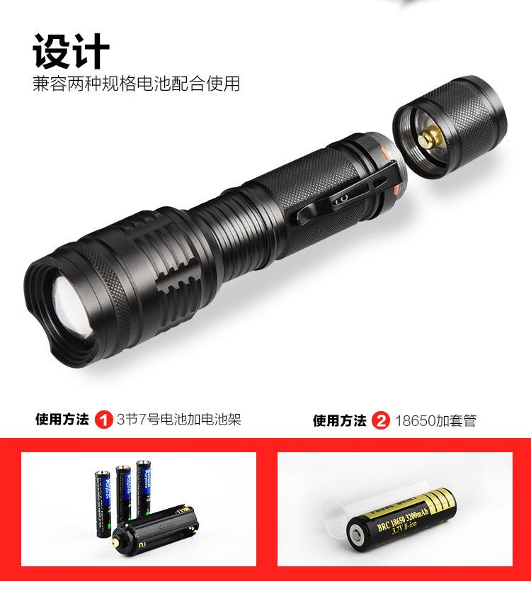 Novo Padrão Pen Clip T6 Lanterna Luz Focagem Flexível Mini- Lanterna de Carga Liga de Alumínio Lanterna Led