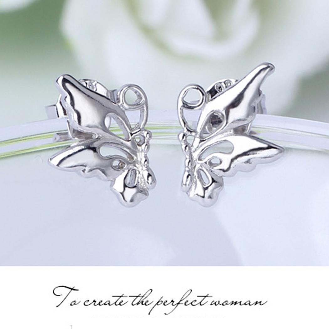 Модные женские модные серьги-бабочки для вечеринок Модные ювелирные часы