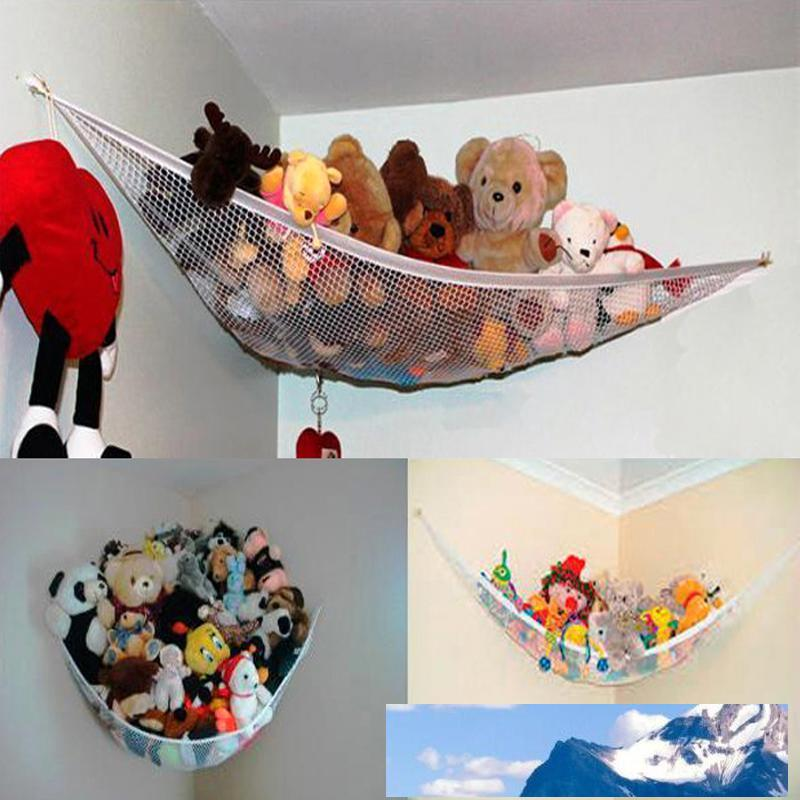 Kids Mesh Bedroom Net Childrens Cuddly Toys Bathroom Tidy Storage Toy Hammock