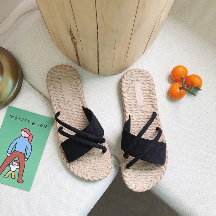 Free2019 One Year The Word arrastre el calzado para mujer Cool Slipper con punta plana inferior antideslizante