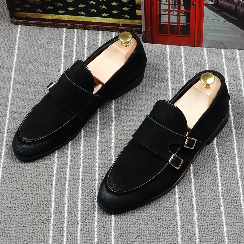 Memorable2019 Sharp Xinkuan Doug Shoe Male Set Foot Red Le Fuxie England Restore Ancient Ways Wipe Color Small Leather Hairstyle Division Of