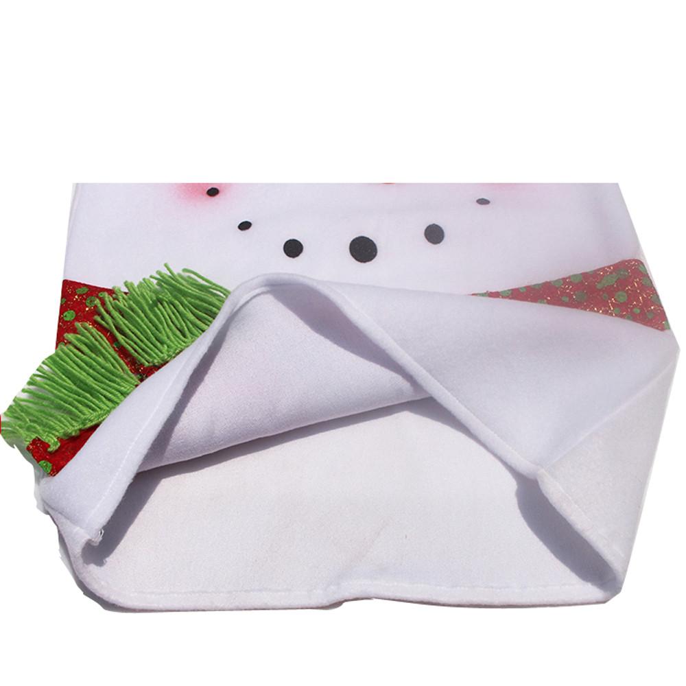 Joyeux Noël Décoration Bonhomme de neige rouge de Noël Tirez Flanelle Housses de chaise Décoration de Noël Décoration Natal 2017 @ GH