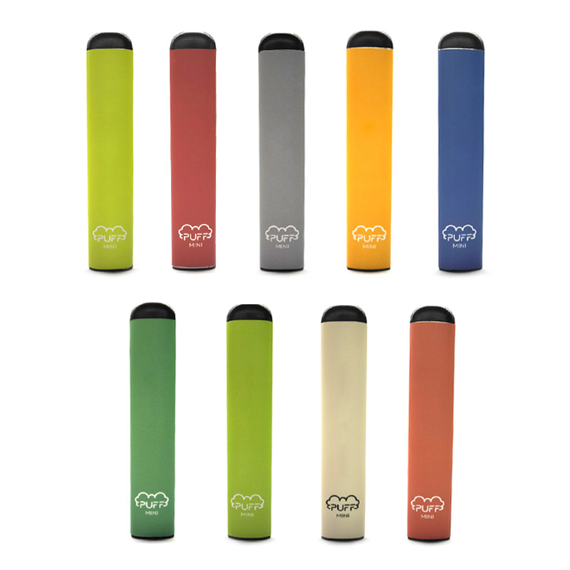 Original Puff Mini Disposable Vapes Pod System Kit e cigarettes 280mAh Battery and 1.2ml Vape Cartridges 100% us warehouse