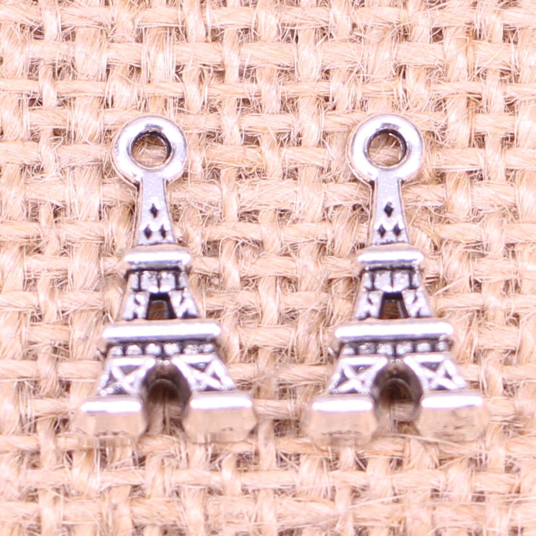 20pcs Antique Bronze Eiffel Tower Charm Pendant Handmade Craft Accessory Punk