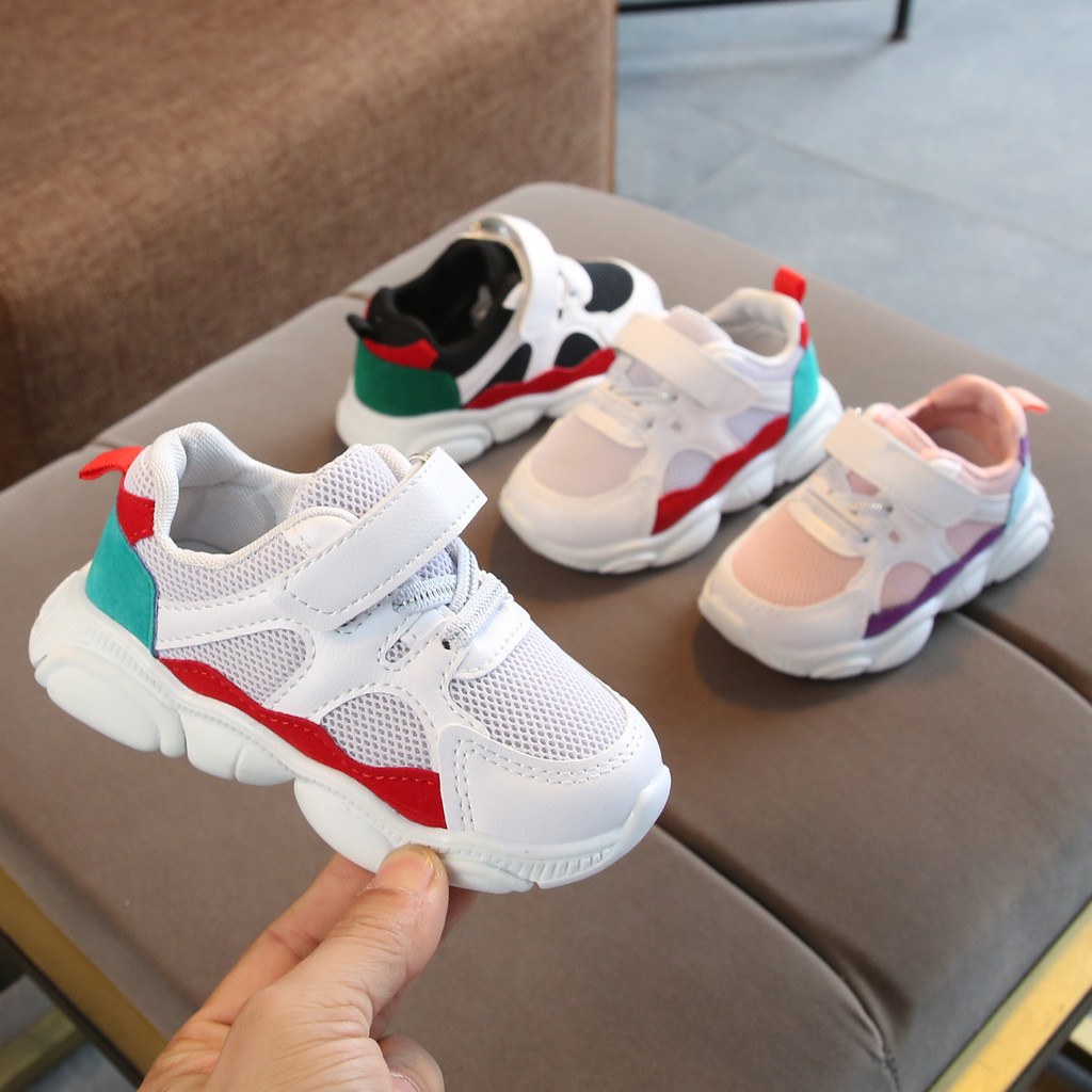 Inner Length 13-18.5CM Children Fashion Toddler Baby Girls Boys Cartoon Bear Sole Mesh Running Sport Shoes Sneakers Kids 1-6 Years Old