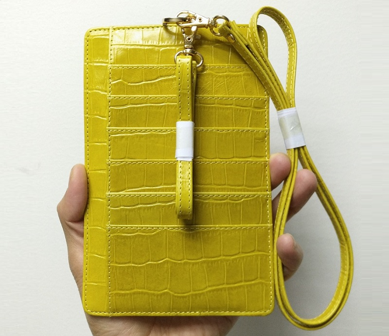 yellow card holder case
