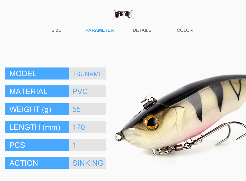 Kingdom Hot TSUNAMI Soft Baits Swim Shad Double Hook Fishing Lures 170mm 55g Good Action Saltwater Swimbaits Fishing Soft Lure (3)