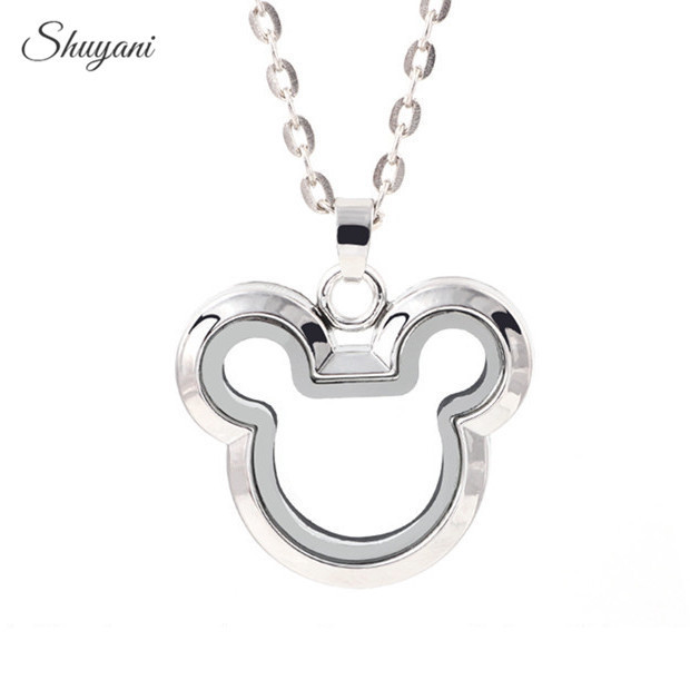 10pcs-lot-Wholesale-Zinc-Alloy-Locket-Minnie-Mouse-Floating-Locket-Magnetic-Glass-Locket-with-Free-Chain