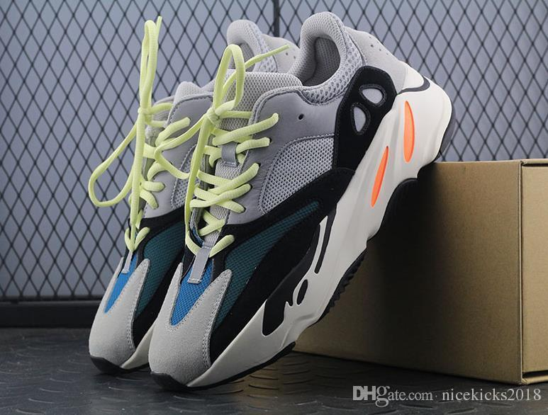DHL FREE!!! Kanye West Wave Runner 700 Boots Mens Women Basketball Shoe Athletic Sport Shoes Running Sneakers Shoes Eur 36-45 with Box