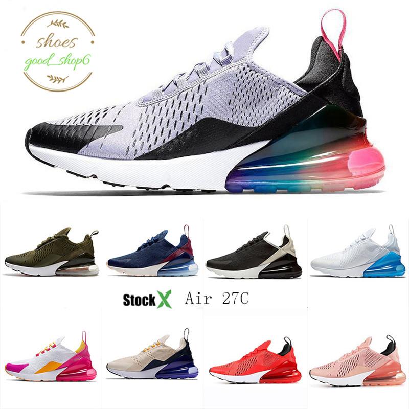 Acheter Nike Air Max 270 Top Chaussures Hommes CNY Triple Noir Blanc 270OG Firecracker Laser Orange Multicolore Chaussures De Sport Dusty Couleur Qui