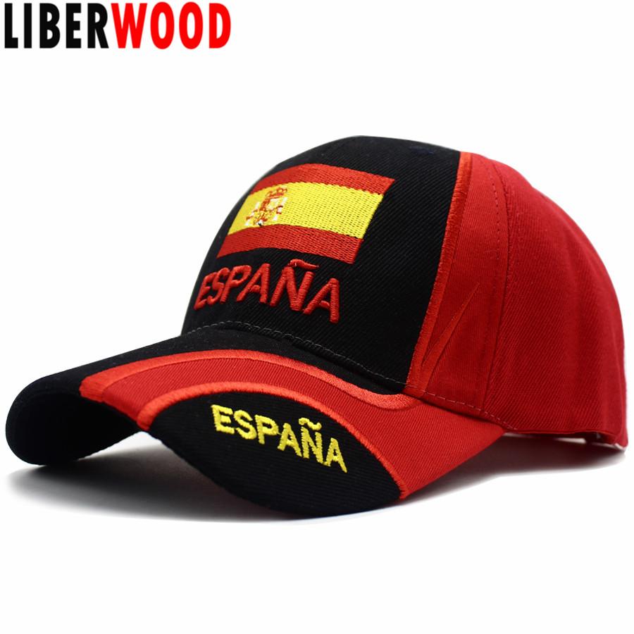 World Cup Soccer National Football Sun Hat Snapback Baseball Cap SPAIN ES